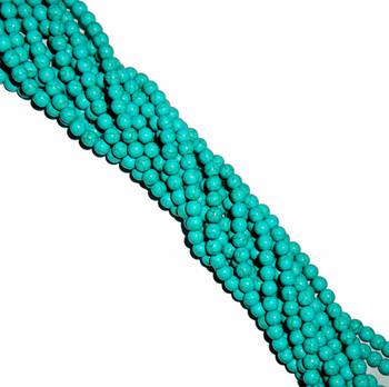 8mm Round Blue Dyed Howlite/Turquoise Gemstone Beads 15 Inches Beads B2-8D21