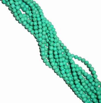 8mm Round Blue Dyed Howlite/Turquoise Green Gemstone Beads 15 Inches Beads B2-8D22