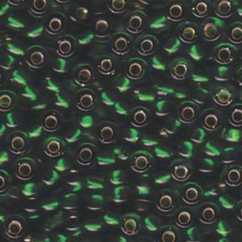 Green Silver Lined Miyuki E Beads 5/0 Seed Bead Glass 18-19 Grams 05-146S-Tb