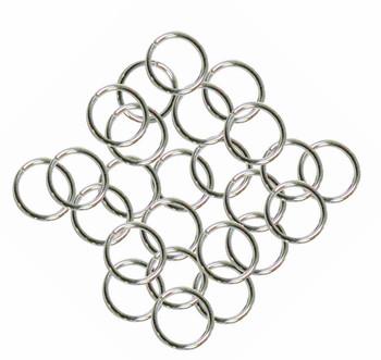 24 Grams Aprox 110 Jump Rings Nickel Steel Tone Plated Brass 9mm Round 16 Gauge Z-G-080527035743-Np