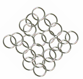 24 Grams Aprox 110 Jump Rings Nickel Steel Tone Plated Brass 9mm Round 16 Gauge Z-G-080527035743-Np