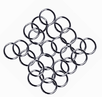 24 Grams Aprox 110 Jump Rings Gunmetal Plated Brass 9mm Round 16 Gauge Z-G-080527035743-Bo