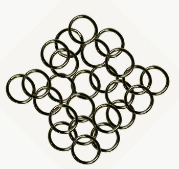 24 Grams Aprox 110 Jump Rings Antiqued Brass Plated Brass 9mm Round 16 Gauge Z-G-080527035743-Ab