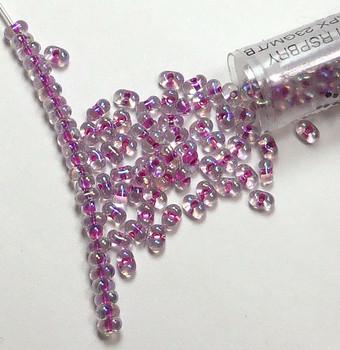 Raspberry Lined Crystal Ab Miyuki Berry Bead 2.5x4.5mm Seed Bead Glass 22 Gram Bb-264-Tb