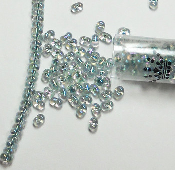 Seafoam Lined Crystal Ab Miyuki Berry Bead 2.5x4.5mm Seed Bead Glass 22 Gram Bb-263-Tb