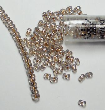 Sparkle Beige Lined Miyuki Berry Bead 2.5x4.5mm Seed Bead Glass 22 Gram Bb-1521-Tb