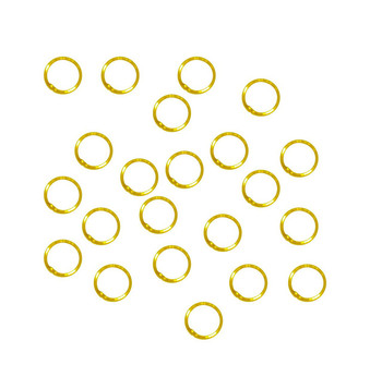 Soldered Closed 100 Jump Rings, Gold Plated, 8mm Round, 21 Gauge
