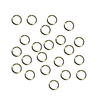 Soldered Closed 100 Jump Rings, Antique Brass, 8mm Round, 21 Gauge