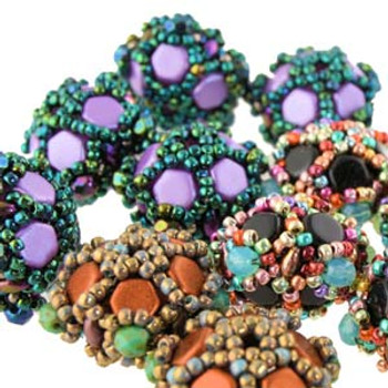 CAROUSEL BEADED BEADS - Free Jewelry Making Project complements of Bead Smith(R) CAROUSEL BEADED BEADS