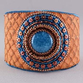 KARI CUFF BRACELET- Free Jewelry Making Project complements of Bead Smith(R) KARI CUFF BRACELET