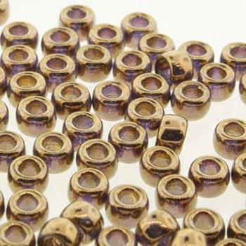 Matubo Czech Glass Seed Beads 6/0 (4.1mm) 8 Grams 1.6mm Hole (Crystal Gold) Mtb06-00030-90215-Tb