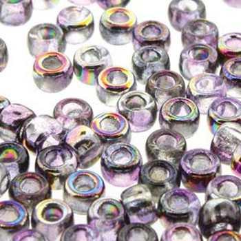 Matubo Czech Glass Seed Beads 8/0 3.1mm 7.5Gr 1.2mm Hole Magic Violet Grey Mtb08-00030-95500-Tb