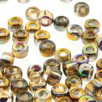 Matubo Czech Glass Seed Beads 8/0 3.1mm 7.5gr 1.2mm Hole Magic Orange Grey