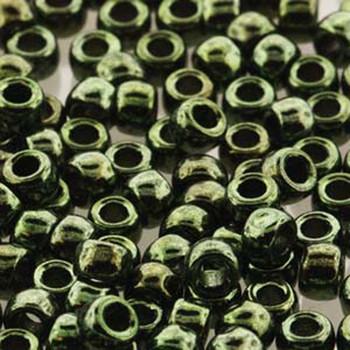 Matubo Czech Glass Seed Beads 8/0 3.1mm 7.5Gr 1.2mm Hole Jet Red Luster Mtb08-23980-14495-Tb