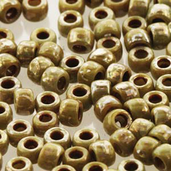 Matubo Czech Glass Seed Beads 8/0 3.1mm 7.5gr 1.2mm Hole Grey Picasso Op