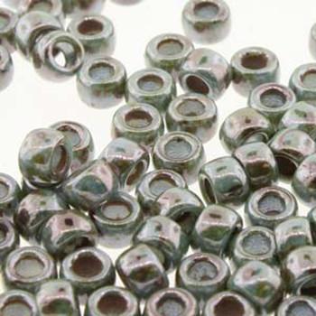 Matubo Czech Glass Seed Beads 8/0 3.1mm 7.5gr 1.2mm Hole Chalk Lazure Blue