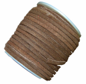 Brown 4mm Flat Suede Lace Leather Cord 25 Yard Spool 4x1.5mm Ba-Slc-19