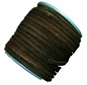 Dark Brown 4mm Flat Suede Lace Leather Cord 25 Yard Spool 4x1.5mm Ba-Slc-3