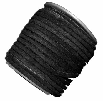 Black 4mm Flat Suede Lace Leather Cord 25 Yard Spool 4x1.5mm Ba-Slc-2