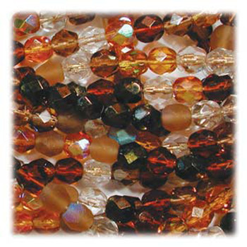 Wheatberry Mix 48 Czech 10mm Faceted Round FirePolished Glass Beads Fpr10Mix04