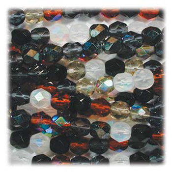 Pebblestone Mix 48 Czech 10mm Faceted Round FirePolished Glass Beads Fpr10Mix13