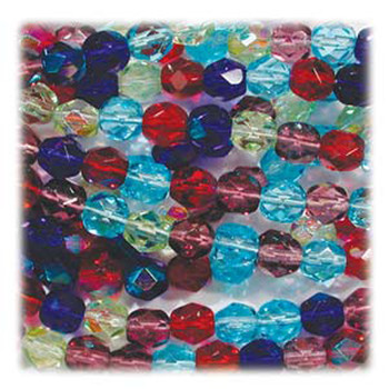 Gemtones Mix 48 Czech 10mm Faceted Round FirePolished Glass Beads Fpr10Mix14
