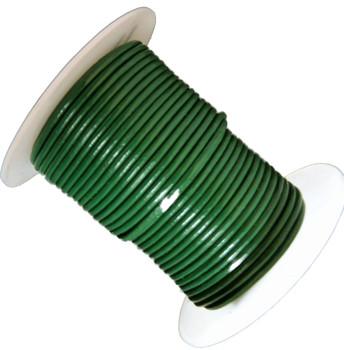 Green 1.5mm Buffalo Leather Round Cord 25 Yards Ba-He-Rlc4-15mmgreen