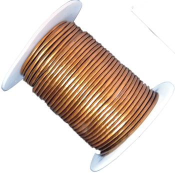 Antique Copper Metallic 1.5mm Buffalo Leather Round Cord 25 Yards Ba-Blc244-15mmantcop