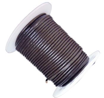 Dark Brown 2mm Buffalo Leather Round Cord 25 Yards Ba-He-Rlc21-2mmdarkbrown