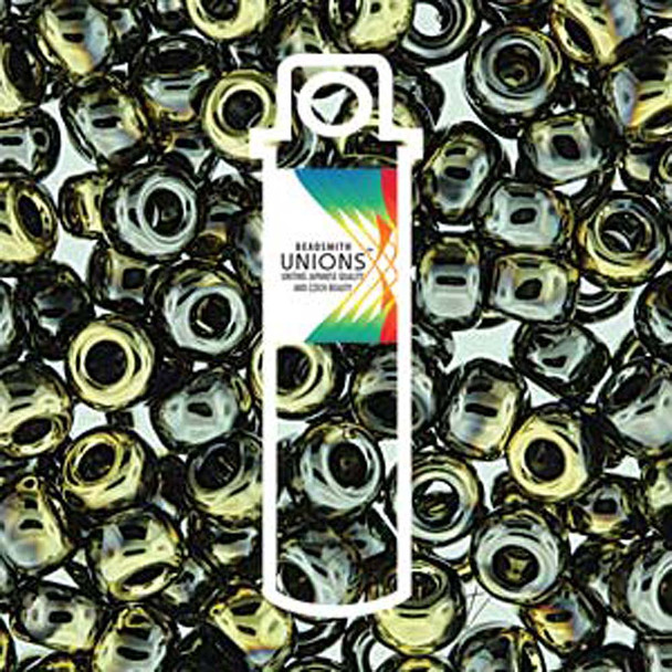 Black California Graphite Unions 15/0 Seed Beads Round Rocailles 8 Grams