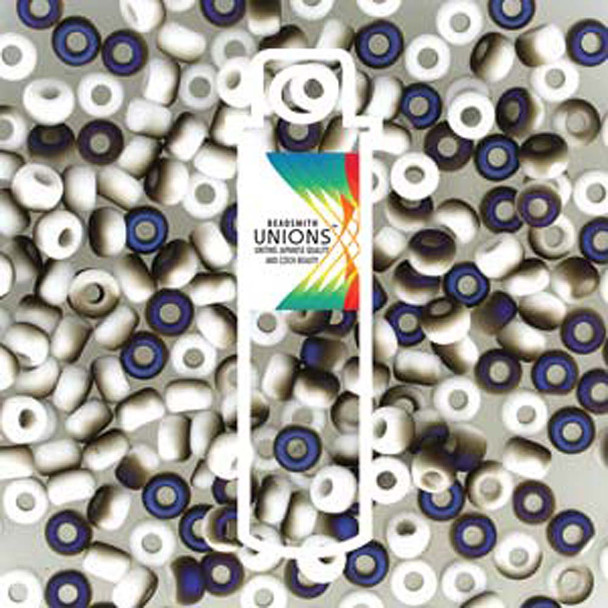 White Opq Azuro Matte Unions 15/0 Seed Beads Round Rocailles 8 Grams