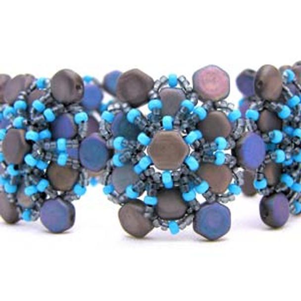 Honey's Flower Bracelet Free Jewelry Making Project complements of Bead Smith(R) Honey's Flower Bracelet