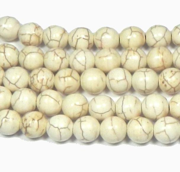 "12mm Stars Magnesite White Buffalo  Beads 15/""  Strand Losse Beads"