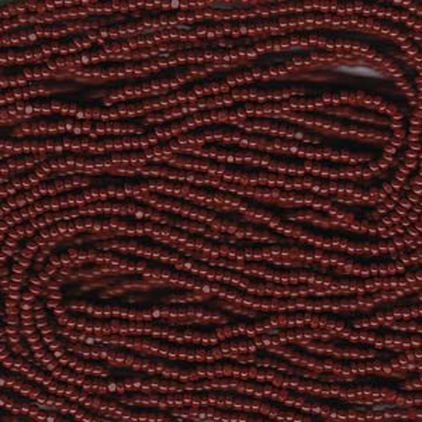13/0 Czech Glass CHARLOTTE Seed beads BROWN 6 string Hank aprox 11 Grams