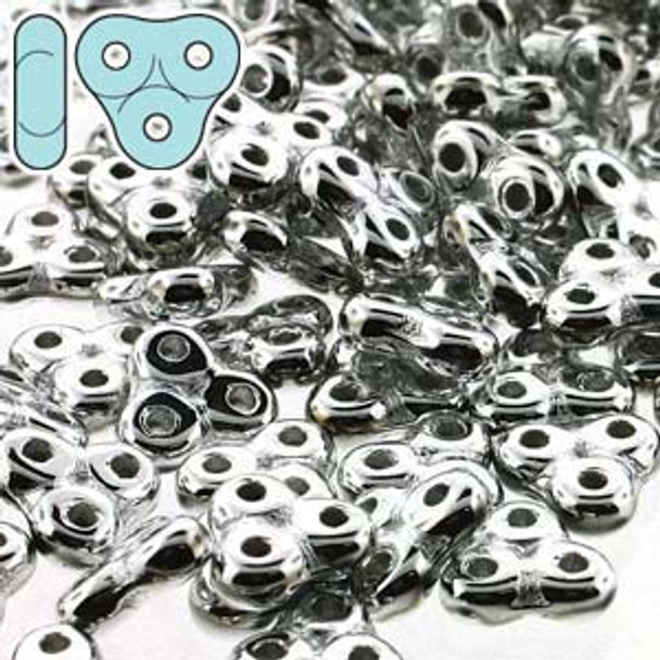 full labradore 6mm Trinity 3-Hole Czech Glass Beads 8 Grams Trt36-25019-Tb