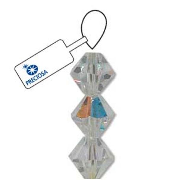 Crystal Bicone 4mm Crystal Ab 30 Beads Preciosa Czech Crystal