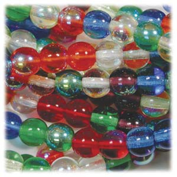 Rainbow Ab Mix Czech 4mm Druk Round Glass Beads approx 100 beads