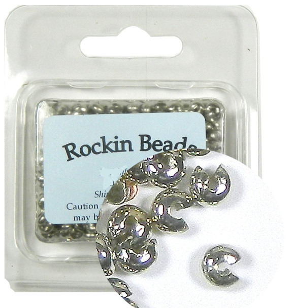 500 Crimp Knot Cover Steel Nickel Tone Makes 3mm Round Bead Rb03070-500