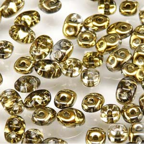 Duperduo Crystal Amber 2.5x5mm 2 Hole Glass Seed Beads 22 Grams Du0500030-26440
