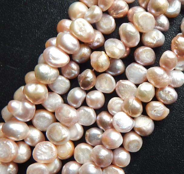 7-8mm Dk Champain Baroque Potato Pearls Beads d grade 15 inch loose strand