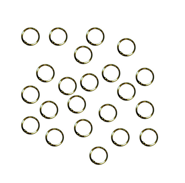 Soldered Closed 100 Jump Rings Antique Brass 8mm Round 21 Gauge Z-G-080530212913-Ag