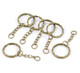 30 1 Inch Key Chains & Key Rings Antique Brass/Gold 5.3Cm 30Pcs 8S-B22221