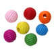 Maple Wood Spacer Beads Drum At Random Stripe About 20mm x 19mm, 50 PCs
