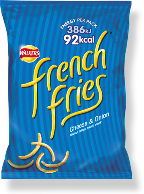 Walkers French Fries Cheese & Onion Snacks 45g