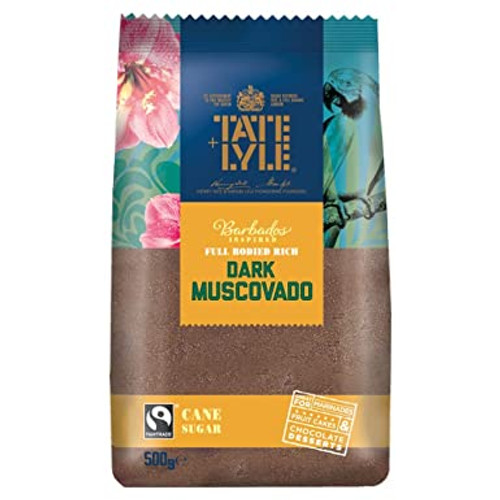 Tate & Lyle Fairtrade Dark Muscovado Cane Sugar 500g