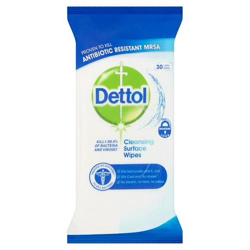 Dettol Anti-Bacterial Cleansing Surface Wipes 30 Large Wipes
