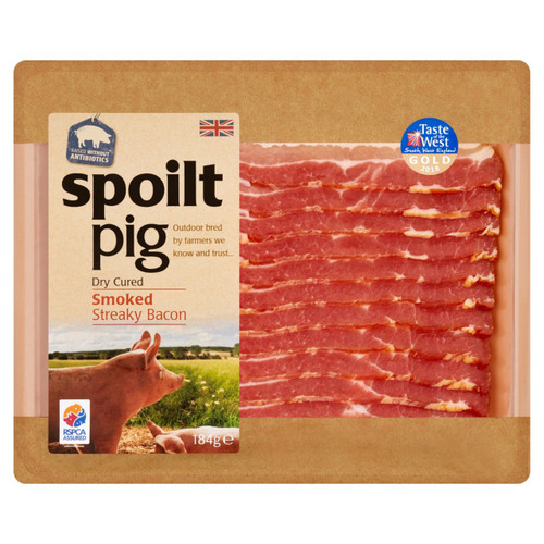 Spoiltpig Dry Cured Smoked Streaky Bacon 184g