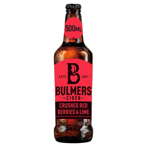 Bulmers Crushed Red Berries & Lime 500ml x 2 Pack