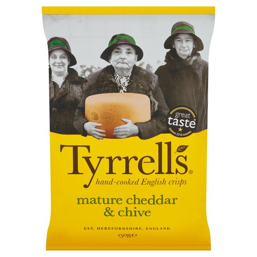 Tyrrells Mature Cheddar & Chives 150G