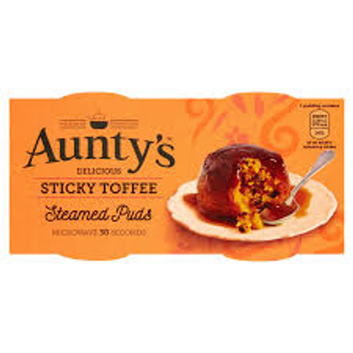 Aunty's Delicious Sticky Toffee Steamed Puds 2 x 95g